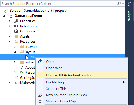 Use IDEA IDE for Android UI design with Visual Studio and